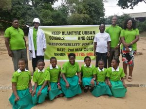 Deputy Mayor plants trees at Blantyre Girls Primary School