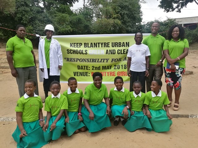 Deputy Mayor plants trees at Blantyre Girls Primary School
