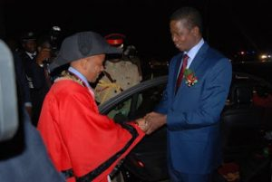 With Zambian Prsident